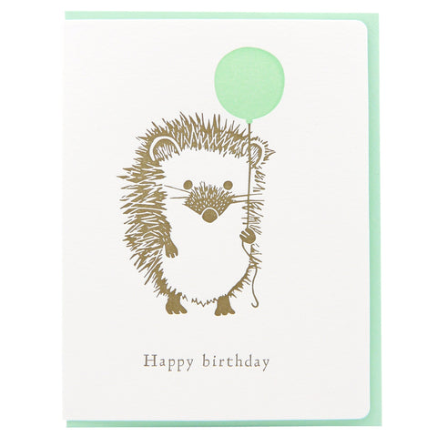 Hedgehog Birthday Balloon