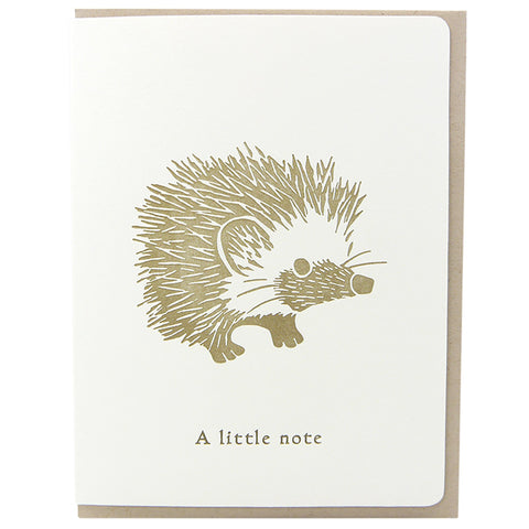 Hedgehog Little Note
