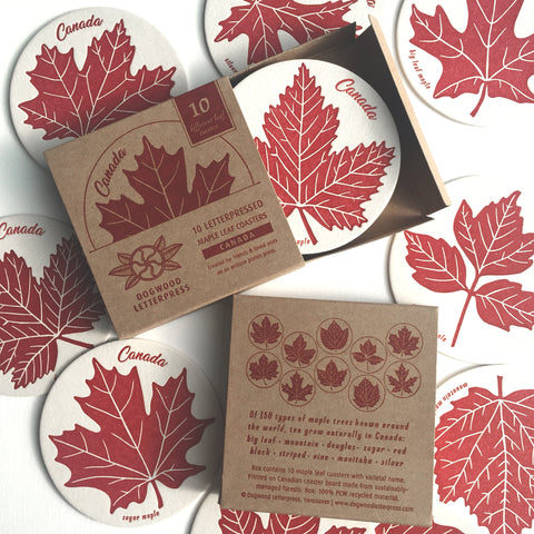 Maple Leaves 10 Coaster Set