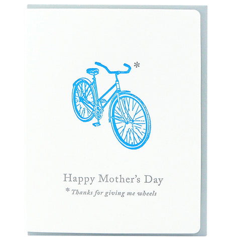Mother's Day Bike Folding Card