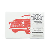 Postcard Collection of 6 Vintage Vehicles I