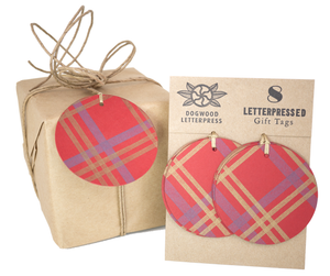 Red Plaid gift tags