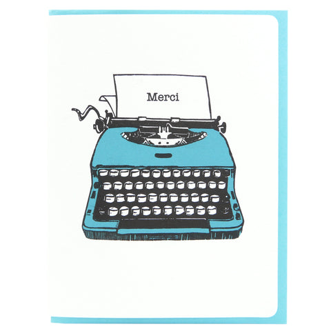 Typewriter Merci FR