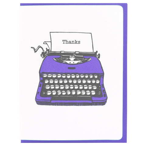 Typewriter Thanks