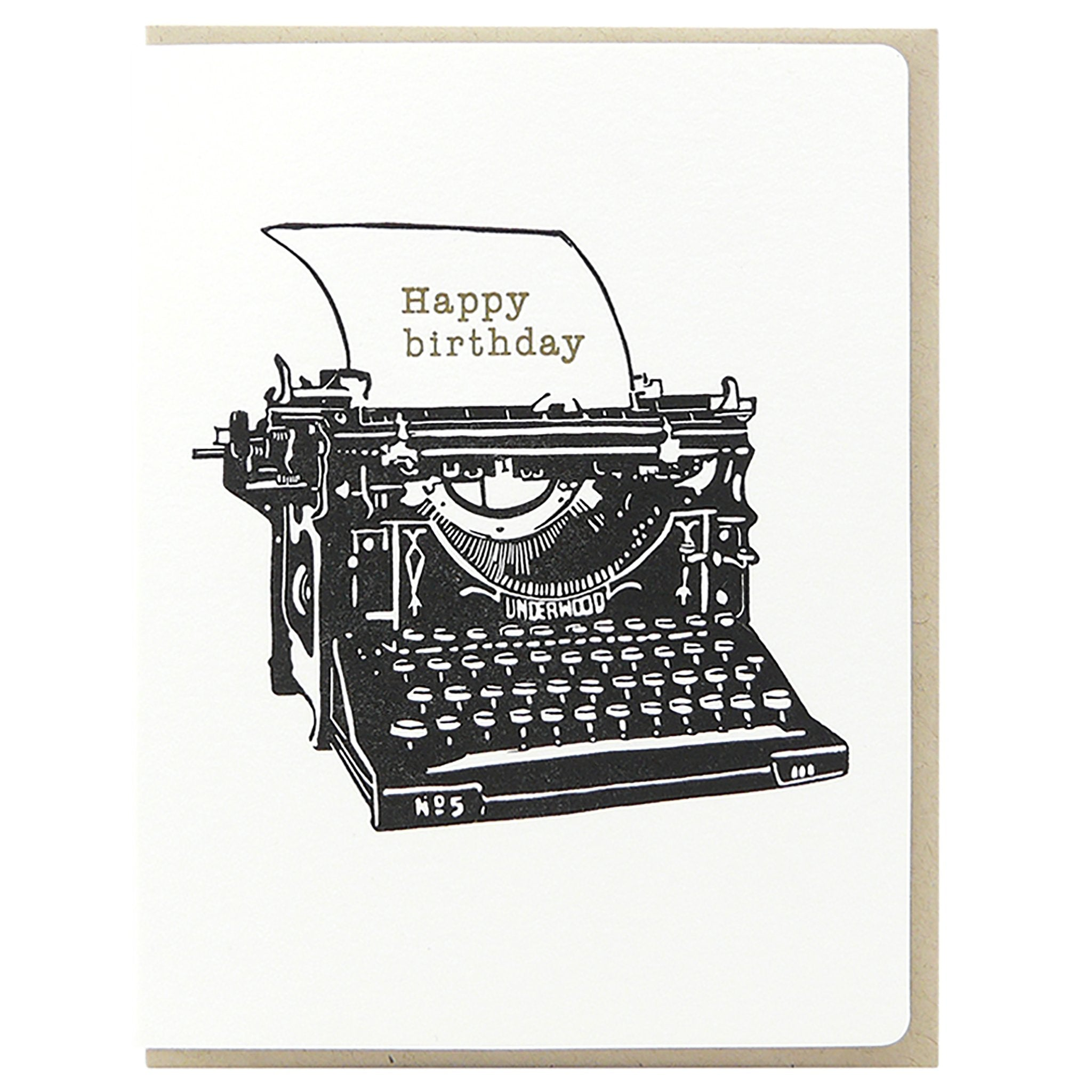 Birthday Vintage Typewriter