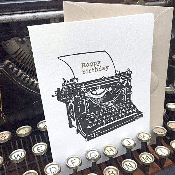 Typewriter 4 Card Set