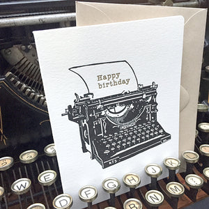 Personalized Typewritten Card