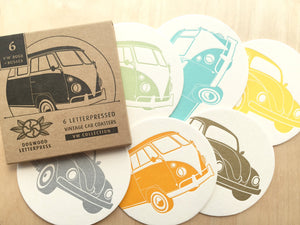 VW Vintage Bus & Beetle Coasters