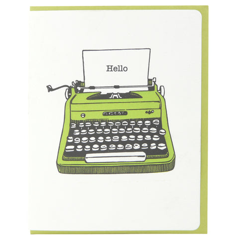 Typewriter Hello