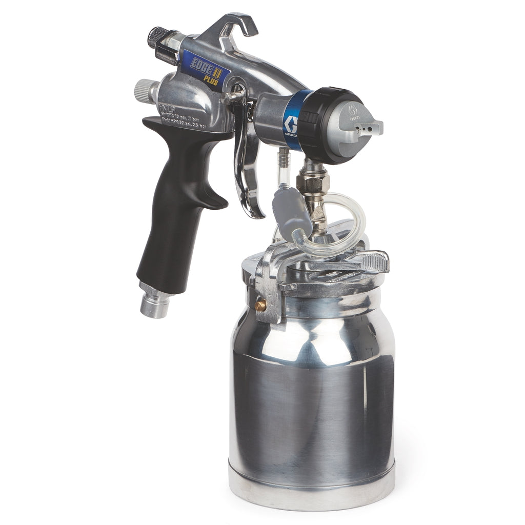 Graco 17P484 Edge II Plus HVLP Gun with Metal Cup