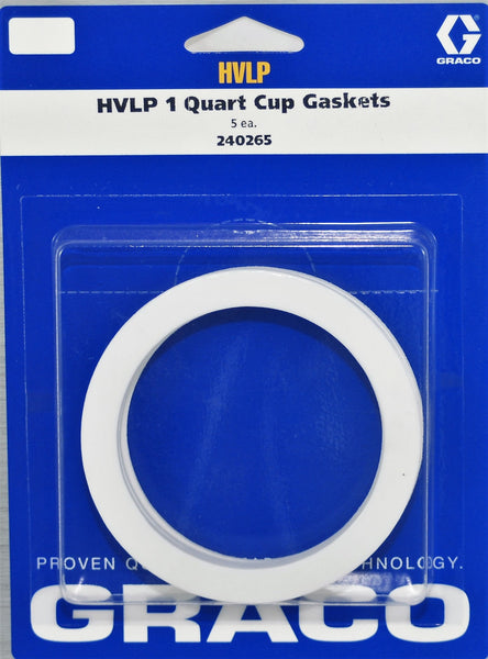 Graco 240-265 1qt Cup Gasket 5Pack