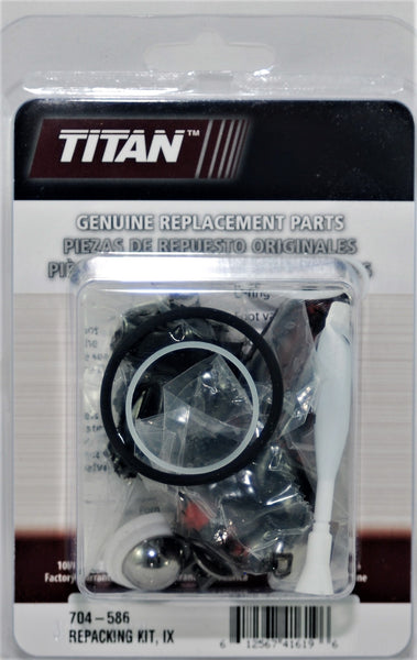 Titan 704-586 Packing Kit   Used on the Following Sprayers  Titan IX 440 540 640  Titan IMPACT 440 540 640
