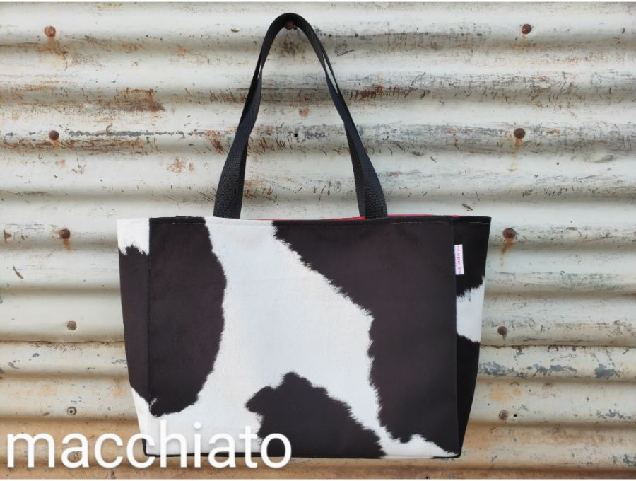 large bags - faux cowhide
