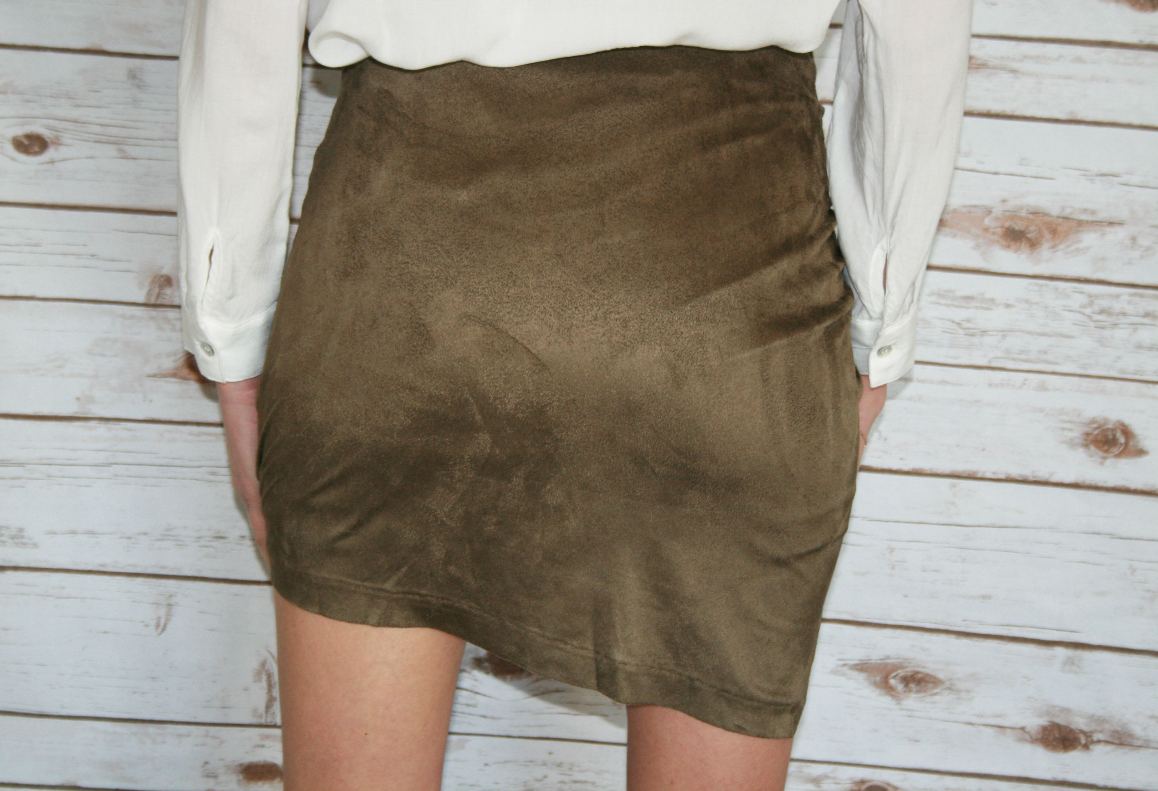 Suede Green Skirt