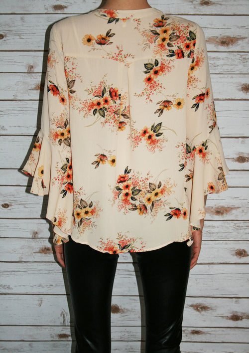 Floral Draped Blouse