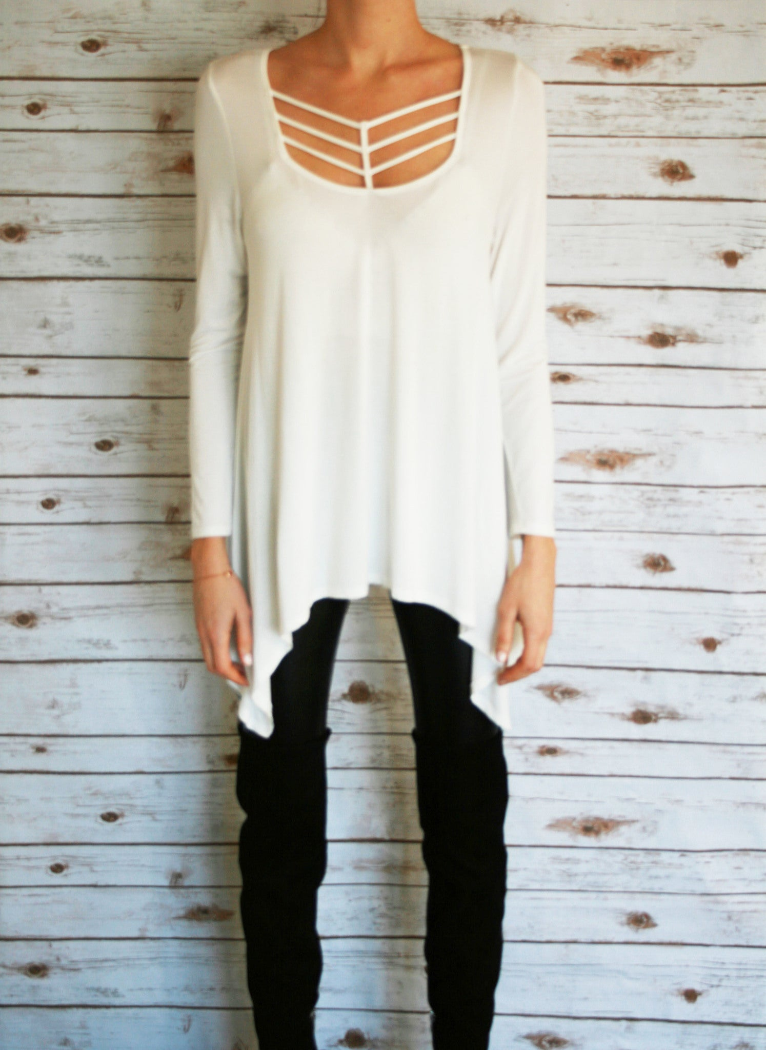 White Loose Fitting Tunic