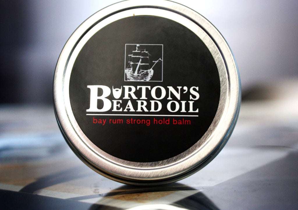 Bay Rum Strong Hold Beard Balm - Burton's Beard Oil