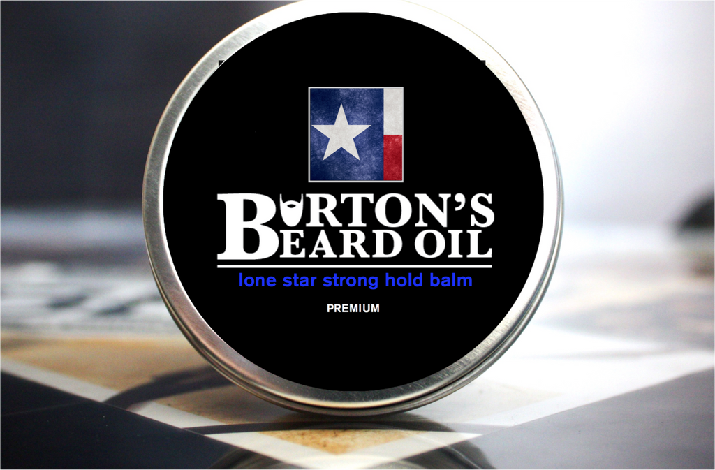 Lone Star Premium Strong Hold Beard Balm - Burton's Beard Oil
