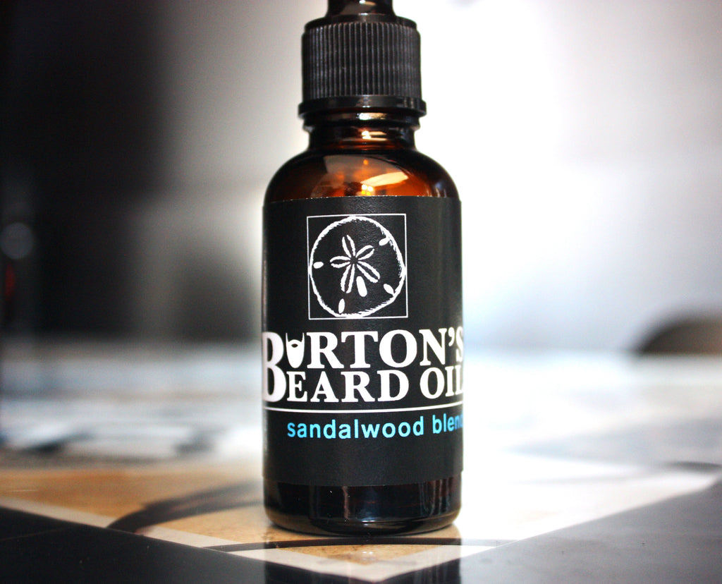 Sandalwood Premium Beard Oil - Burton's Beard Oil