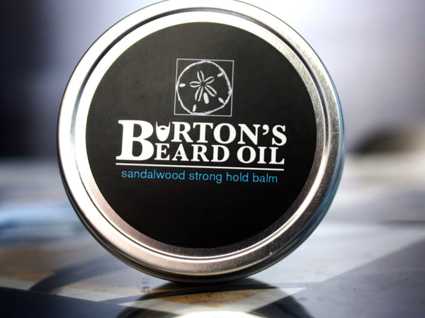 Sandalwood Premium Strong Hold Beard Balm - Burton's Beard Oil
