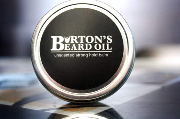 Unscented Strong Hold Beard Balm - Burton's Beard Oil