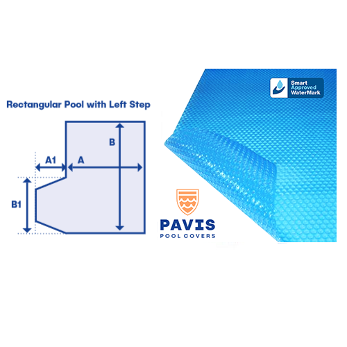 Pavis Pool Covers With Left Hand Step - Poolshop.com.au