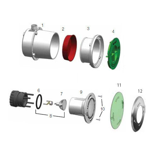 Aquastar Halogen Light Parts - Poolshop.com.au