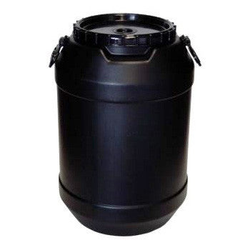 Black Plastic Drum 60L - Poolshop.com.au