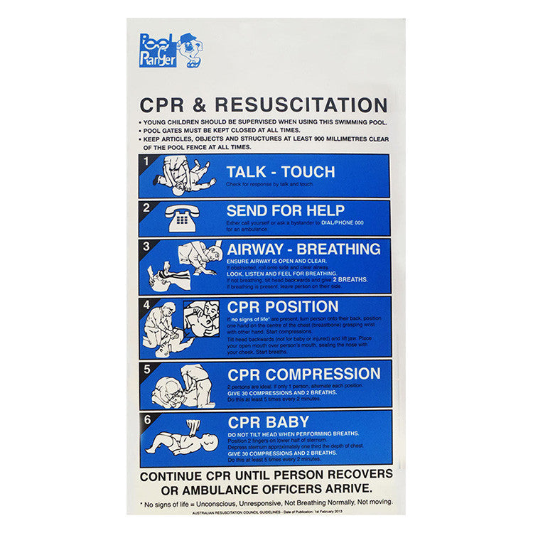 Cpr Sign Pool Shop Australia Discounted Pool Supplies