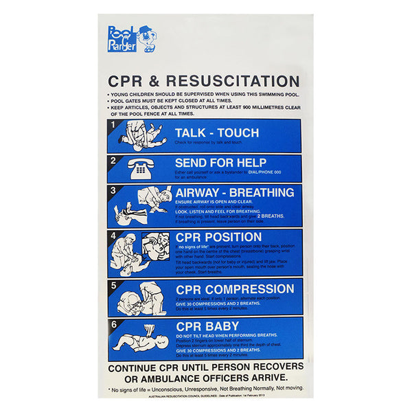 CPR Sign - Poolshop.com.au