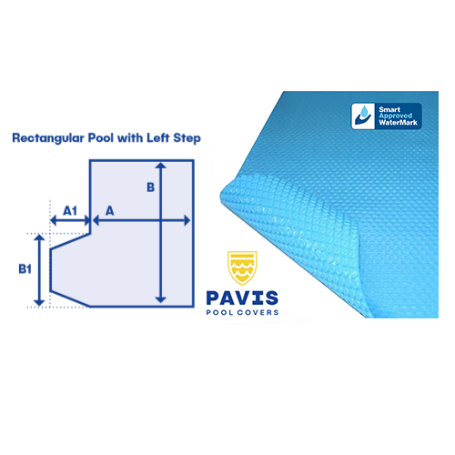 Pavis Kool Pool Cover With Left Hand Step - Poolshop.com.au