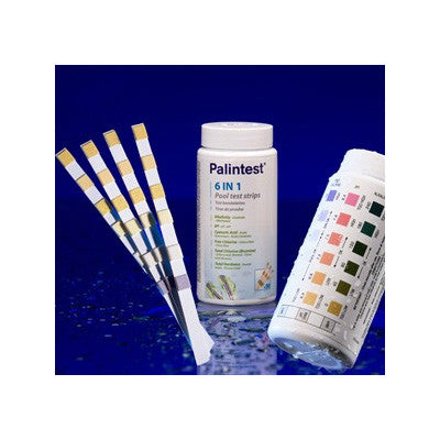Palintest 6 in 1 Pool Test Strips - Poolshop.com.au