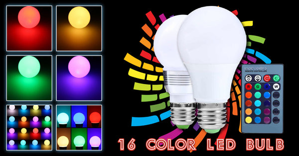 5-Mode 16-Color LED Bulb with Remote Control