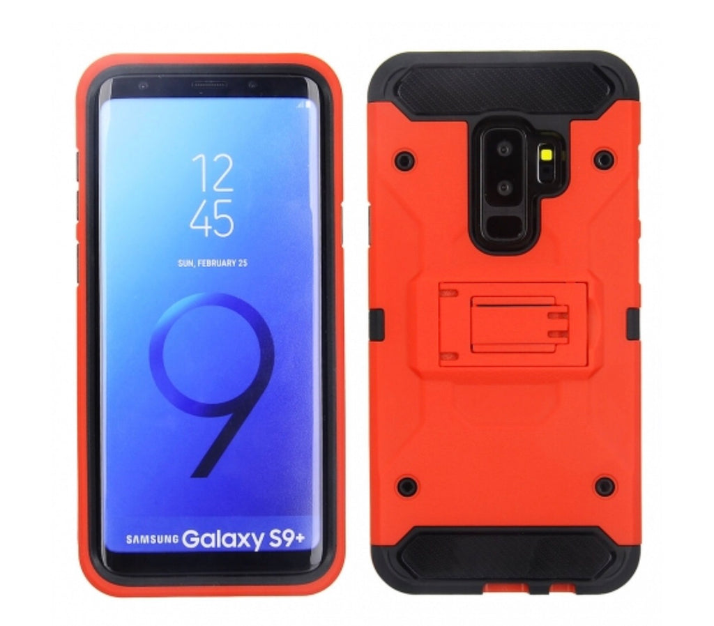reputable site 448b9 b3476 Samsung Galaxy S9 Plus - Red Colored Horizontal Hard Back Kickstand Case