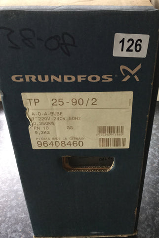 Grundfos TP 25-90/2 In Line Single Stage Pump 96408460 230v #126
