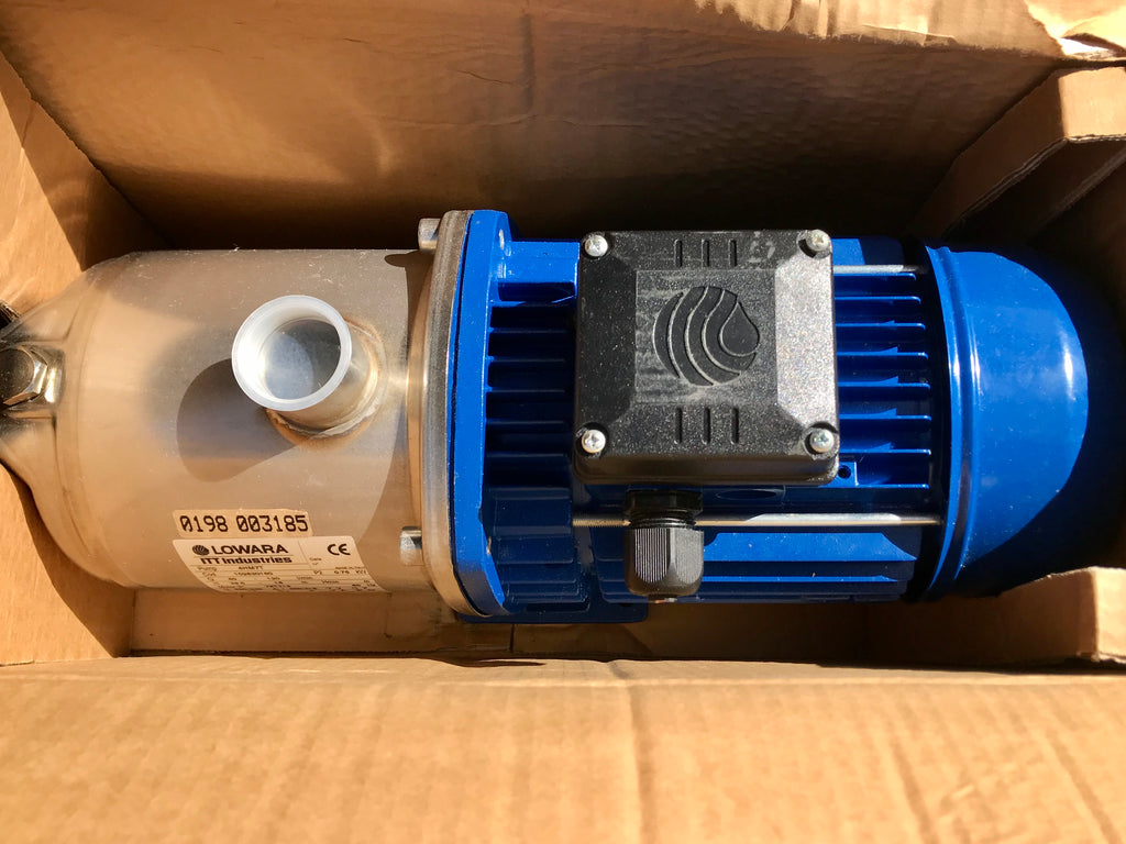 Lowara 4HM7T Horizontal Multistage Pump 415v Stainless Steel #1962