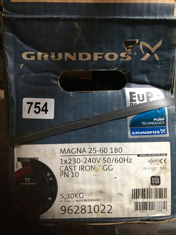Grundfos MAGNA UPE 25-60 Variable Speed Pump 240V 96281022 #754