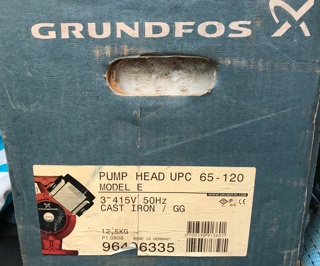 Grundfos Replacement Pump Head UPC UPCD 65-120 415v 96406335 #1747