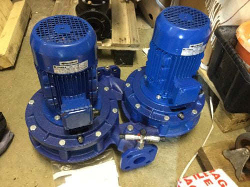 lowara xylem FCTE 4 40 250/11/p twin head pump centrifugal in line TP 3 Phase