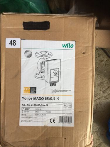 Wilo Yonos Maxo 65/0,5-9 flanged glandless circulation pump heating cooling #48