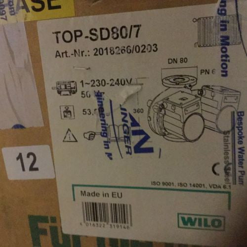 Wilo TOP-SD80/7 commercial circulator pump #12