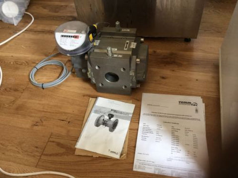 Vemm tec flanged rotary gas turbine meter RVG G16 Pulse elster Dn50 Pn16