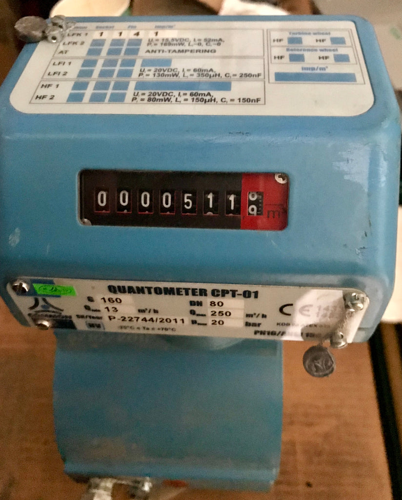 Common SA Quantometer Mechanical Turbine Gas Meter DN80 G160 turbine #1774