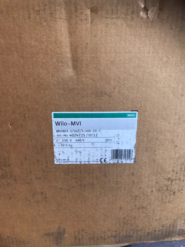 Wilo Pump MVI 803 Vertical multistage 4024725 400v #1570