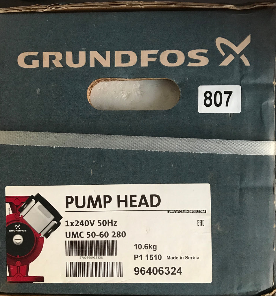 Grundfos UMC UMCD UMS 50-60 Circulator Replacement Pump Head 240V (96406324) #30