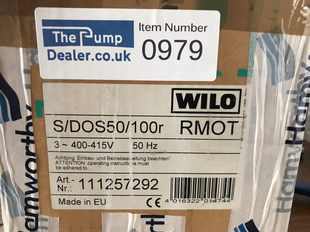 Wilo S/DOS 50/100R Replacement pump head motor 1257292 400v #979