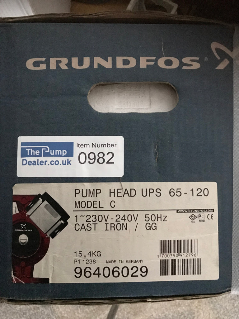 Grundfos UPS/UPSD 65-120 340 Circulator Replacement Pump Head 240V (96406029) #982