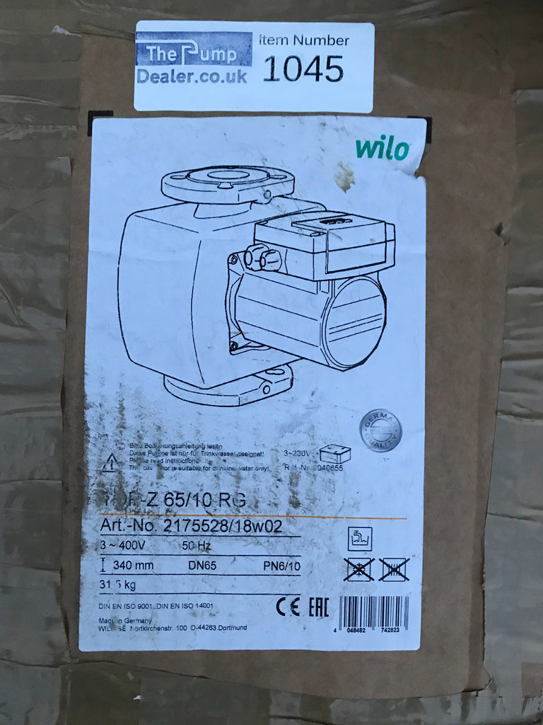 Wilo TOP-Z 65/10 RG 3ph 400v circulator pump DN65 2175528 #1045