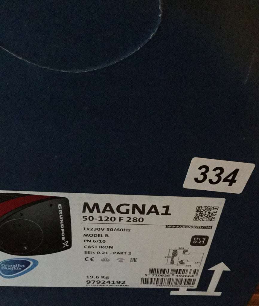 Grundfos MAGNA1 50-120F (280) 97924192 'A' Rated/EuP Ready Variable Speed #334