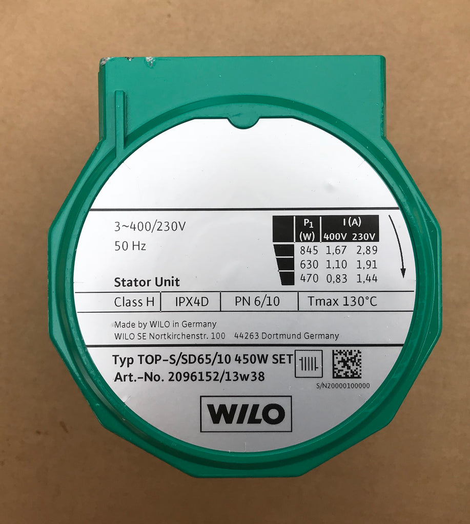 Wilo Pump Replacement Head stator unit TOP-S/SD 65/10 2096152 400v #1536 VAT